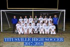Titusville Terriers Boys Varsity Soccer Winter 18-19 team photo.