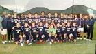 Palmer Trinity Falcons Boys Varsity Soccer Winter 18-19 team photo.