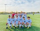 Oakwood Gorillas Boys Varsity Soccer Winter 18-19 team photo.