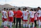 Lindsay Cardinals Boys Varsity Soccer Winter 16-17 team photo.