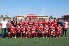 Hoover Cardinals Boys Varsity Soccer Winter 16-17 team photo.