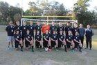 North Bay Haven Academy Buccaneers Boys Varsity Soccer Winter 16-17 team photo.