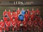 Leon Lions Boys Varsity Soccer Winter 16-17 team photo.