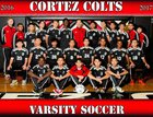 Cortez Colts Boys Varsity Soccer Winter 16-17 team photo.