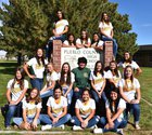 Pueblo County Hornets Girls Varsity Softball Fall 17-18 team photo.