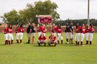 Cross Creek Razorbacks Girls Varsity Softball Fall 17-18 team photo.
