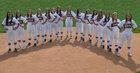 Arapahoe Warriors Girls Varsity Softball Fall 17-18 team photo.