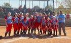 Weld Central Rebels Girls Varsity Softball Fall 17-18 team photo.