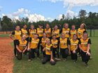North Murray Mountaineers Girls Varsity Softball Fall 17-18 team photo.