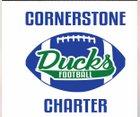Cornerstone Charter Academy Ducks Boys Varsity Football Fall 17-18 team photo.