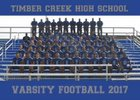 Timber Creek Regional Chargers Boys Varsity Football Fall 17-18 team photo.