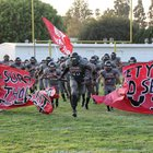 St. Pius X-St. Matthias Academy Warriors Boys Varsity Football Fall 17-18 team photo.