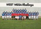 West Mesa Mustangs Boys Varsity Football Fall 17-18 team photo.