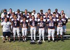 Rolling Hills Prep Huskies Boys Varsity Football Fall 17-18 team photo.