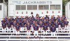 Lonoke Jackrabbits Boys Varsity Football Fall 17-18 team photo.