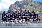 Pusch Ridge Christian Academy Lions Boys Varsity Football Fall 17-18 team photo.