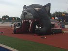 Pantego Christian Panthers Boys Varsity Football Fall 17-18 team photo.