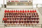 Springville Red Devils Boys Varsity Football Fall 17-18 team photo.