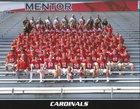 Mentor Cardinals Boys Varsity Football Fall 17-18 team photo.