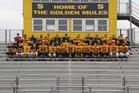 Solanco Golden Mules Boys Varsity Football Fall 17-18 team photo.