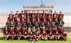 Murrieta Valley Nighthawks Boys Varsity Football Fall 17-18 team photo.