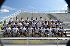 Lee Trojans Boys Varsity Football Fall 17-18 team photo.