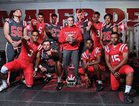 Mater Dei Monarchs Boys Varsity Football Fall 17-18 team photo.