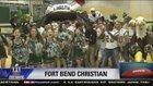 Fort Bend Christian Academy Eagles Boys Varsity Football Fall 17-18 team photo.