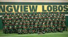 Longview Lobos Boys Varsity Football Fall 17-18 team photo.