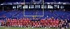 Indianapolis Cardinal Ritter Raiders Boys Varsity Football Fall 17-18 team photo.