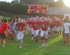 Newton-Conover Red Devils Boys Varsity Football Fall 17-18 team photo.