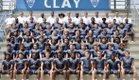 Clay Blue Devils Boys Varsity Football Fall 17-18 team photo.