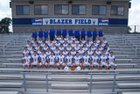 Valley View Blazers Boys Varsity Football Fall 17-18 team photo.