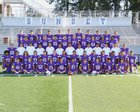 Sunset Apollos Boys Varsity Football Fall 17-18 team photo.