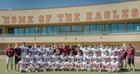 Belen Eagles Boys Varsity Football Fall 17-18 team photo.