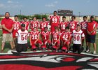 New Mexico School for the Deaf Roadrunners Boys Varsity Football Fall 17-18 team photo.