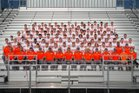 Skyridge Falcons Boys Varsity Football Fall 17-18 team photo.