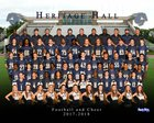 Heritage Hall Chargers Boys Varsity Football Fall 17-18 team photo.