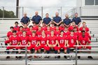 Baptist Prep Eagles Boys Varsity Football Fall 17-18 team photo.