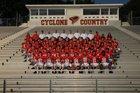 Russellville Cyclones Boys Varsity Football Fall 17-18 team photo.