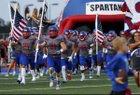 Bixby Spartans Boys Varsity Football Fall 17-18 team photo.