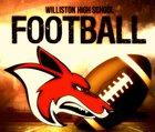 Williston Coyotes Boys Varsity Football Fall 17-18 team photo.