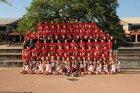 Bowie Bulldogs Boys Varsity Football Fall 17-18 team photo.