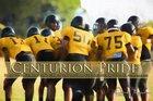 John Paul II Centurions Boys Varsity Football Fall 17-18 team photo.