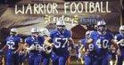 Oconee County Warriors Boys Varsity Football Fall 17-18 team photo.