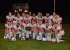 Connersville Spartans Boys Varsity Football Fall 17-18 team photo.
