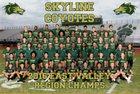 Skyline Coyotes Boys Varsity Football Fall 17-18 team photo.