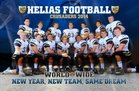 Helias Crusaders Boys Varsity Football Fall 17-18 team photo.