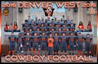 Denver West Cowboys Boys Varsity Football Fall 17-18 team photo.