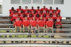 Clarendon Lions Boys Varsity Football Fall 17-18 team photo.